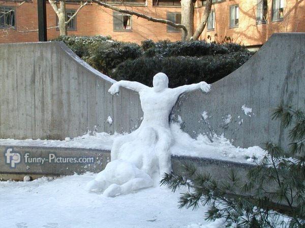Lucky snowman